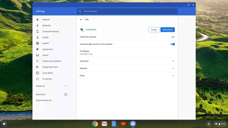 how to find ip on chrome os