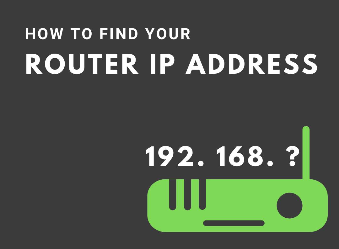 find router ip address
